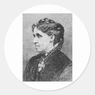 Alcott ~ Louisa May Novelist Writer Round Sticker