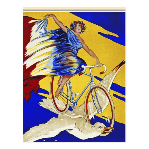 Alcyon Cycles - Vintage Bicycle Art Postcard