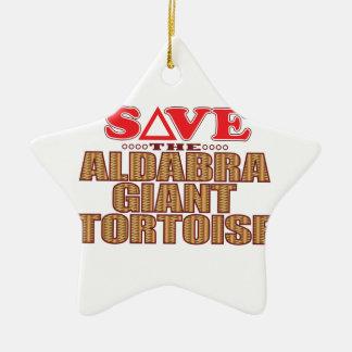 Aldabra Tortoise Save Ceramic Star Decoration
