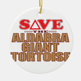 Aldabra Tortoise Save Christmas Ornament
