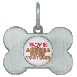 Aldabra Tortoise Save Pet ID Tag