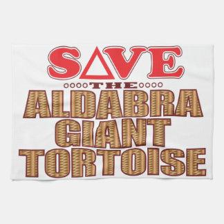 Aldabra Tortoise Save Tea Towel