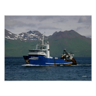 Aldebaran, Fishing Trawler in Dutch Harbor, AK Poster