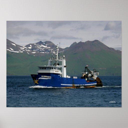 Aldebaran, Fishing Trawler in Dutch Harbor, AK Poster
