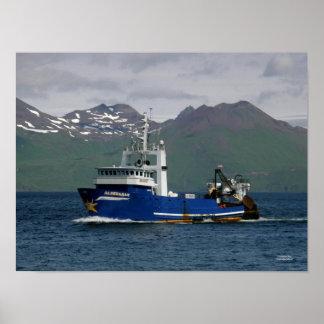 Aldebaran, Fishing Trawler in Dutch Harbour, AK Poster