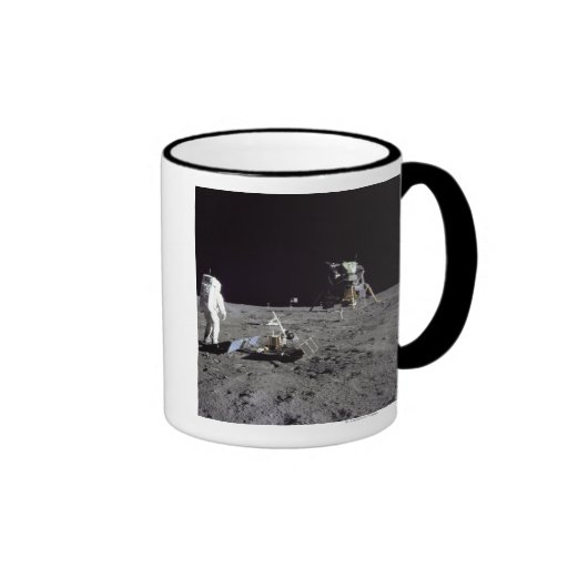 Aldrin Looks Back at Tranquility Base Mug