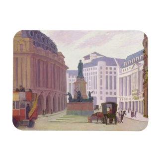Aldwych (oil on canvas) rectangular magnet