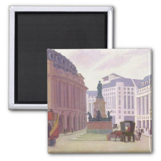 Aldwych (oil on canvas) square magnet