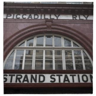 """Aldwych """"Strand"""" Station, London Napkin"""