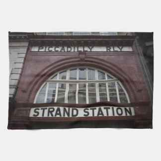 "Aldwych ""Strand"" Station, London Tea Towel"