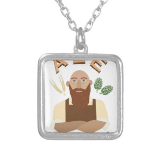 Ale For All! Square Pendant Necklace