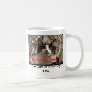 Alegra Longwhiskers Christmas The Cats of Kitt Coffee Mugs