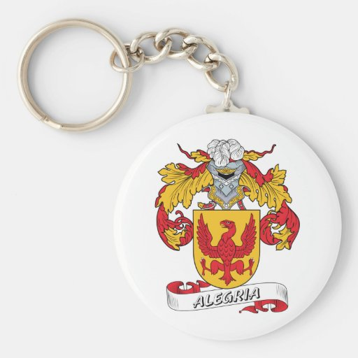 Alegria Family Crest Keychains