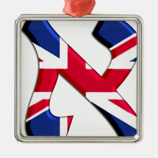 Aleph Uk.png Silver-Colored Square Decoration
