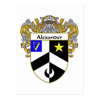Alerander Coat of Arms (Mantled) Postcard