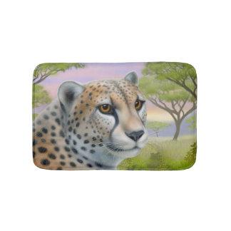 Alert African Cheetah Cat Bath Mat