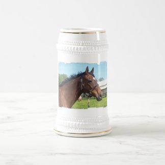 Alert Arab Horse Beer Stein Coffee Mugs