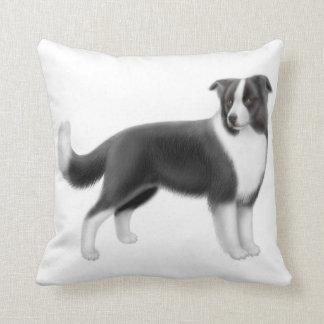 Alert Border Collie Dog Pillow Cushion