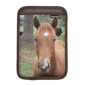 Alert Brown Horse Close-up iPad Mini Sleeve