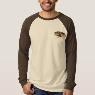 Alert Chocolate Lab On A Forest Trail T-Shirt