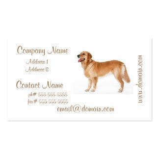 Alert Golden Retriever Business Cards