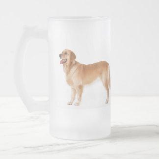 Alert Golden Retriever Frosted Mug