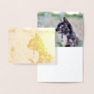 Alert Kitty Cat - Foil Card Design