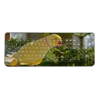 Alert Lutino Indian Ringneck Wireless Keyboard