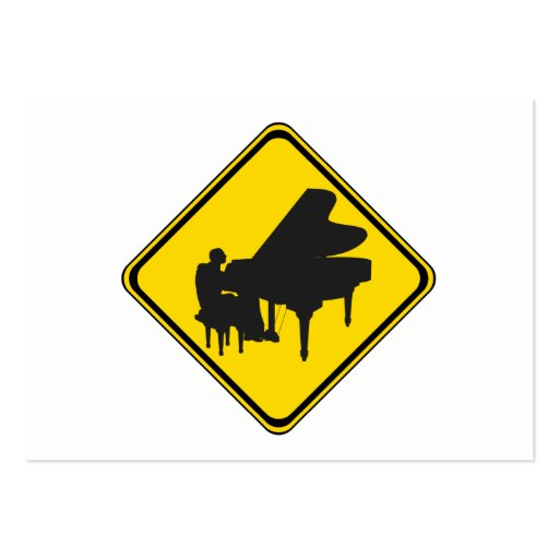 Alert: Piano Player Ahead! Business Card