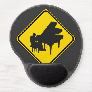 Alert: Piano Player Ahead! Gel Mouse Pad