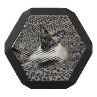 Alert Siamese Cat Black Boombot Rex Bluetooth Speaker