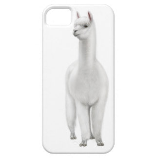 Alert White Alpaca iPhone Case