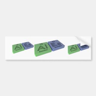 Ales  as Al Aluminium  and Es Einsteinium Car Bumper Sticker
