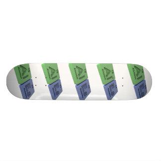 Ales as Al Aluminium and Es Einsteinium Custom Skate Board