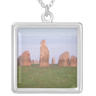 Ales Stenar 'ship setting' stone circle Silver Plated Necklace