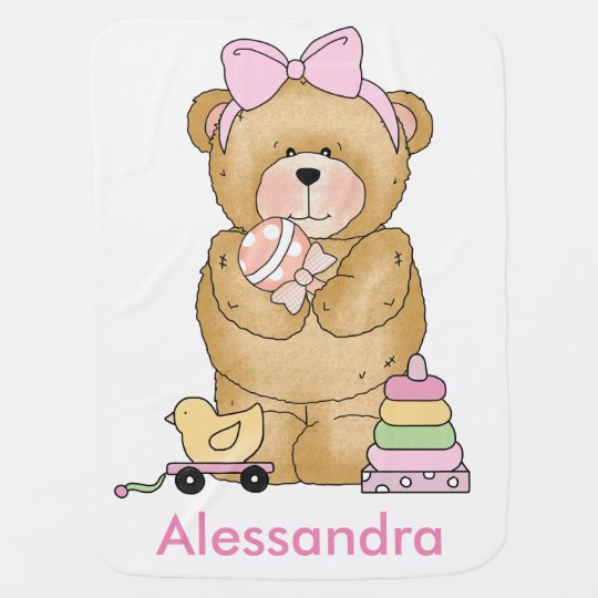 Alessandra's Teddy Bear Personalised Gifts Baby Blanket