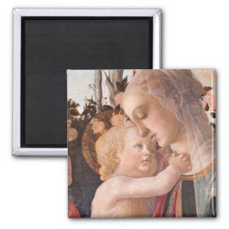 Alessandro Botticelli s The Virgin and Child Fridge Magnets