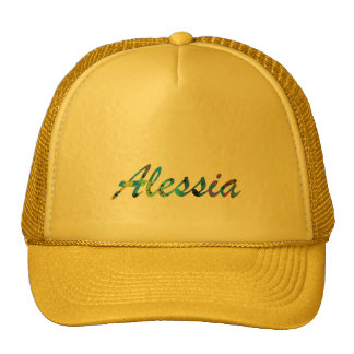 Alessia Solid Yellow Style Trucker Hat