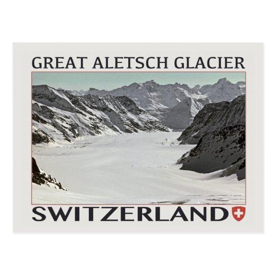 Aletsch Glacier - on White.jpg Postcard
