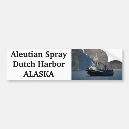 Aleutian Spray, Crab Boat in Dutch Harbor, AK Bumper Sticker