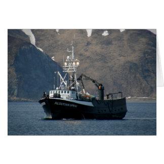 Aleutian Spray, Crab Boat in Dutch Harbor, AK Greeting Card