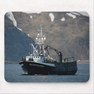 Aleutian Spray, Crab Boat in Dutch Harbor, AK Mouse Pad