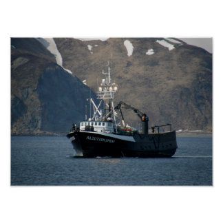 Aleutian Spray, Crab Boat in Dutch Harbor, Alaska Poster