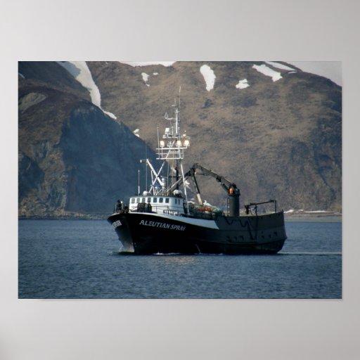 Aleutian Spray, Crab Boat in Dutch Harbor, Alaska Posters