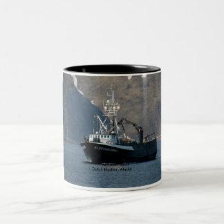 Aleutian Spray, Crab Boat in Dutch Harbor, Alaska Two-Tone Mug