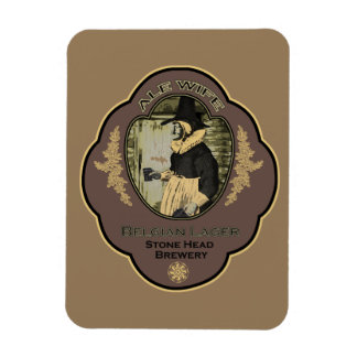 Alewife Belgian Lager Beer Vinyl Magnet