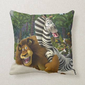 Alex and Marty Playful Throw Pillow