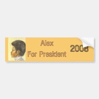 Alex For President , 2008 Bumper Sticker