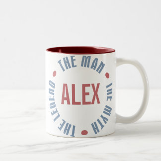 Alex Man Myth Legend Customizable Two-Tone Coffee Mug