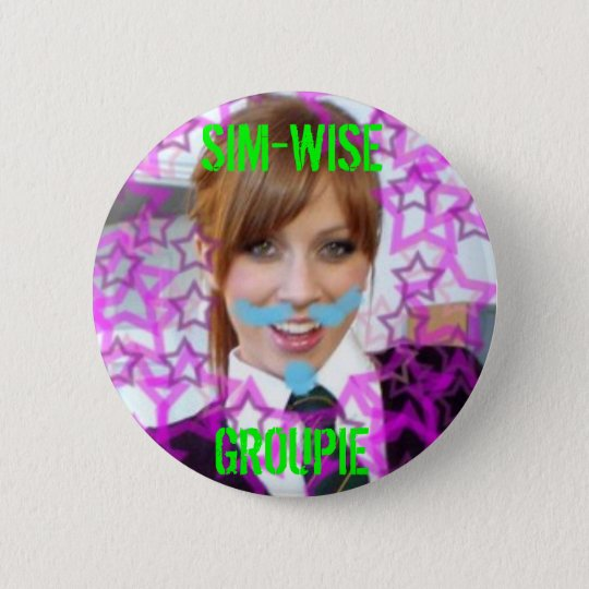 alex sim-wise button, SIM-WISE GROUPIE 6 Cm Round